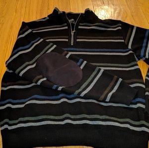 St. Croix Men's Pullover 1/4 zip w/Elbow Pads M